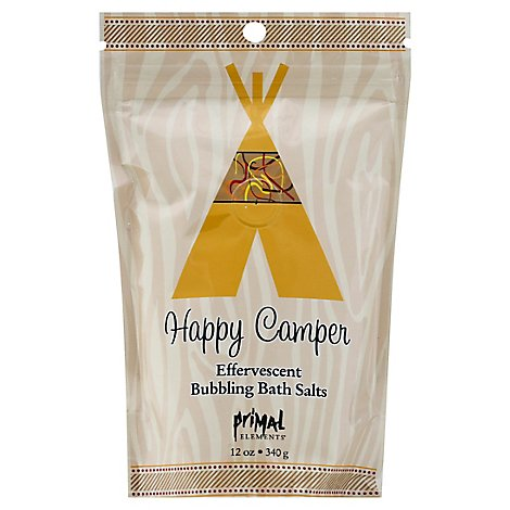 Primal Elements Happy Camper Bubbling Bath Salts - 12 Oz