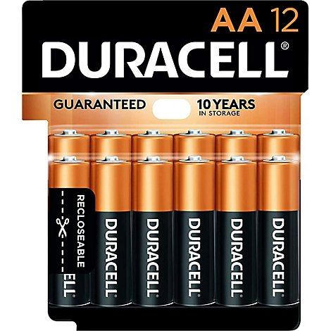 Duracell Coppertop Battery Alkaline AA - 12 Count