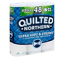 Quilted Northern Bathroom Tissue Ultra Soft & Strong Mega Rolls 2 Ply Unscented - 12 Roll