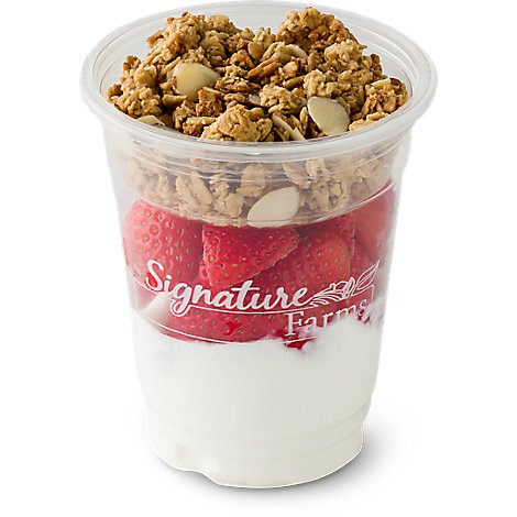 Fresh Cut Yogurt Parfait Greek Yogurt Honey With Strawberry - 8 Oz (370 Cal)