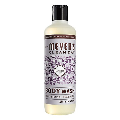 Mrs. Meyers Clean Day Body Wash Lavender Scent 16 ounce bottle