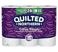 Quilted Northern Bathroom Tissue Ultra Plush Mega Rolls 3 Ply Unscented - 9 Roll