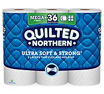 Quilted Northern Bathroom Tissue Ultra Soft & Strong Mega Roll 328 2-Ply Sheets Wrapper - 9 Roll