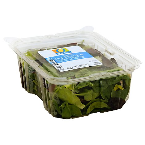 O Organics Baby Spinach And Butter Lettuce - 5 Oz