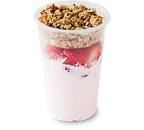 Fresh Cut Yogurt Parfait Strawberry With Strawberry - 12 Oz (470 Cal)