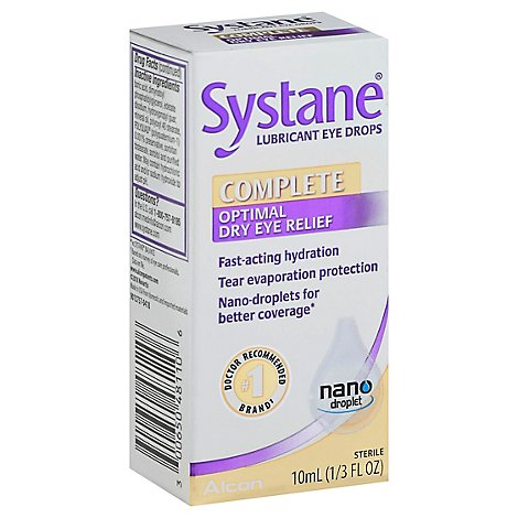 Systane Complete Lubricant Eye Drops - 10 Ml