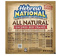 Hebrew National Beef Franks All Natural - 10.3 Oz