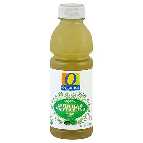 O Organics Green Tea And Matcha Blend Mint - 16 Fl. Oz.