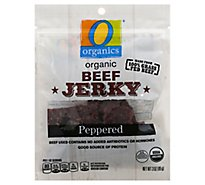 O Organics Beef Jerky Peppered - 3 Oz