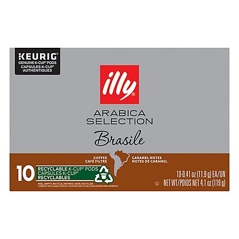 Illycaffe Coffee Kcup Brazil Arabca - 4.103 Oz