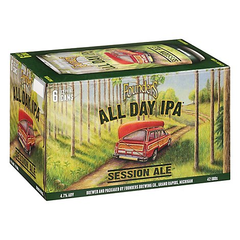 Founders All Day Ipa Cans - 6-12 Fl. Oz.