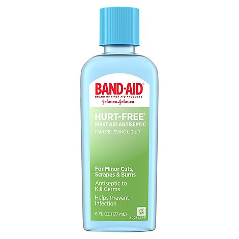 Bandaid Hurt Free Antiseptic Wash - 6 Fl. Oz.