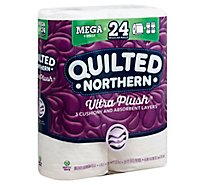 Quilted Northern Bathroom Tissue Ultra Plush Mega Rolls 3 Ply Unscented - 6 Roll
