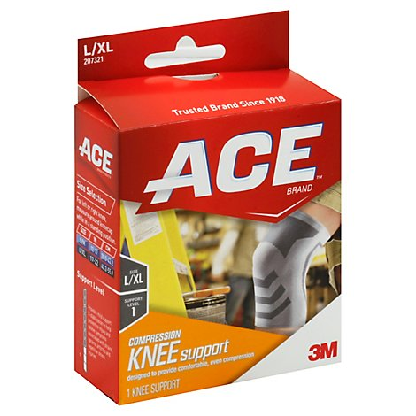 ACE Compression Knee Support Lrg/Xlrg - Each