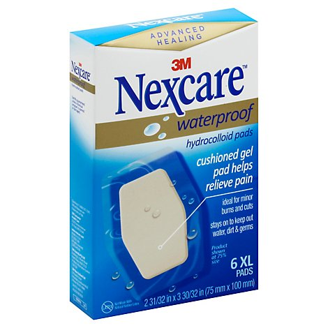 Nexcare Waterproof Hydrocolloid Pads - 6 Count