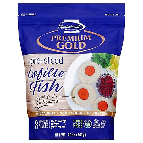 Manischewitz Gefilte Fish Pre Sliced 8 Count - 20 Oz