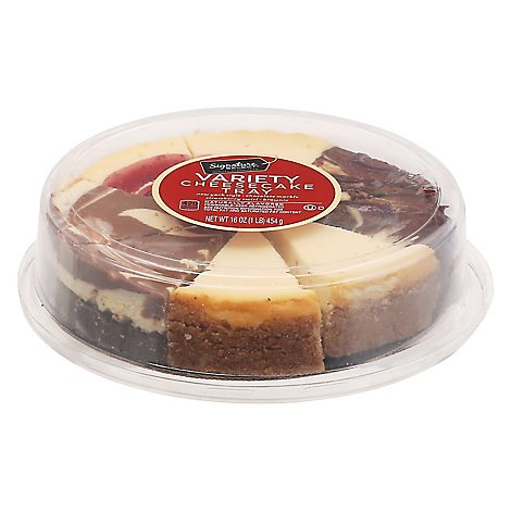 Signature Select 4 Variety Cheesecake 6 Inch - 16 Oz