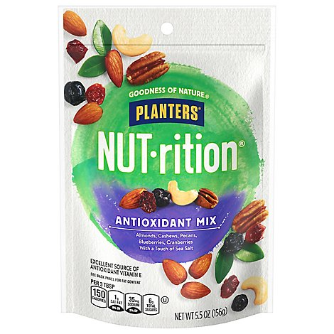 Planters Nut-Rition Snack Nuts Antioxidant Mix - 5.5 Oz