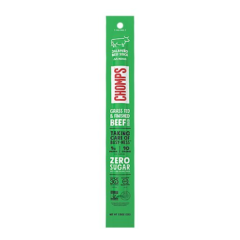 Chomps Beef Stick Jalapeno Medium - 1.15 Oz