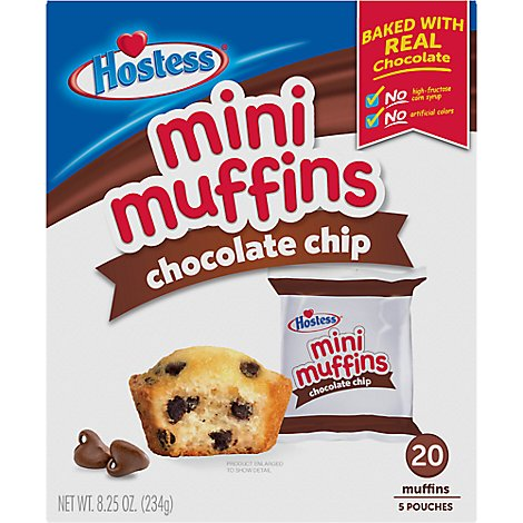 Hostess Chocolate Chip Mini Muffin - 8 Oz