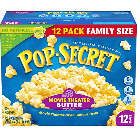 Pop Secret Movie Theater Bttr Popcorn - 38.4 Oz