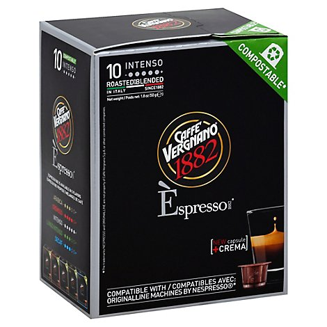 Caffe Vergnano Intenso Coffee Capsule - 1.8 Oz