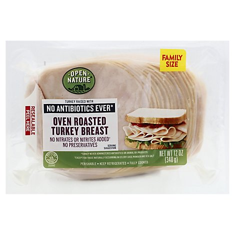 Open Nature Turkey Breast Oven Rstd Family Pack - 12 Oz