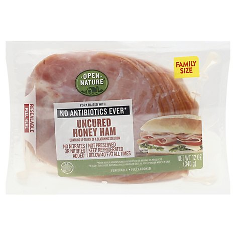 Open Nature Ham Honey Family Pack - 12 Oz