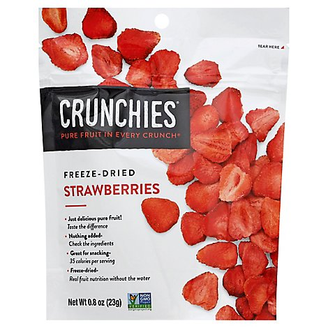 Crunchies Freeze Dried Strawberries Single Serve - .8 Oz