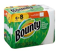 Bounty Paper Towels Big Rolls 2 Ply White Wrapper - 6 Roll