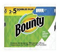 Bounty Paper Towels Select A Size Double Plus Rolls White - 2 Roll
