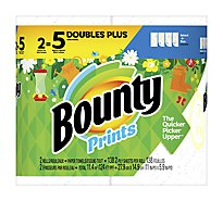 Bounty Paper Towels Select A Size Huge Rolls 2 Ply Spring Prints - 2 Roll