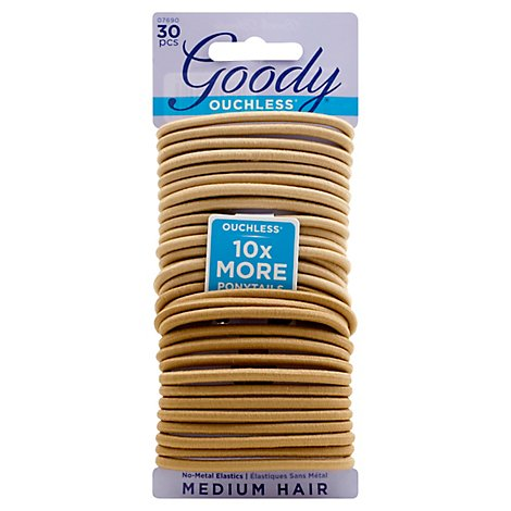 Goody Ouchless 4mm Elastics Blnd 30c 07690 - 1 Each