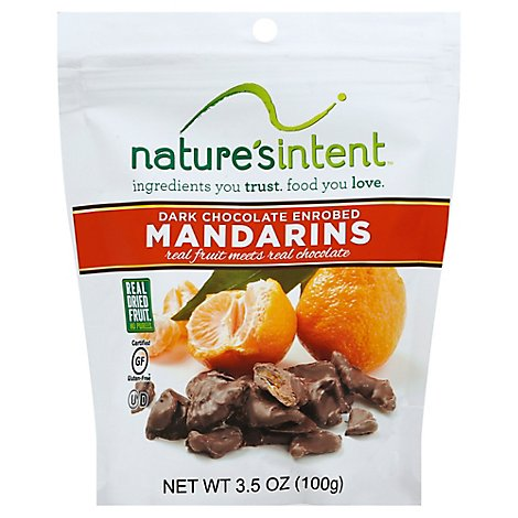 Natures Intent Dark Chocolate Enrobed Dried Mandarin - 3.5 Oz