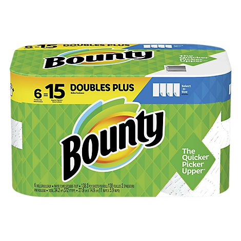Bounty Paper Towel Select A Size Huge Roll 2 Ply - 6 Roll
