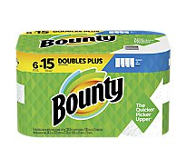 Bounty Paper Towels Select A Size Double Plus Rolls White - 6 Roll