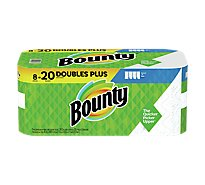 Bounty Paper Towels Select A Size Double Plus Rolls White - 8 Roll