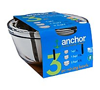 Anchor Hocking 3 Piece Mixing Bowl - Each