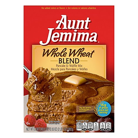 Aunt Jemima Pancake & Waffle Mix Complete Whole Wheat - 35 Oz