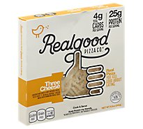 Real Good Food Co. Pizza Three Cheese Frozen - 8.5 Oz