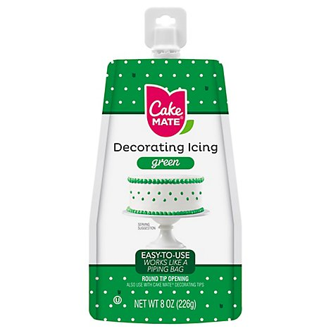 Cake Mate Green Decorating Icing - 8 Oz
