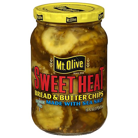Mt Olive Sweet Heat Chips - 16 Fl. Oz.