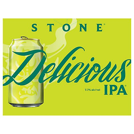 Stone Delicious Ipa In Cans - 12-12 Fl. Oz.