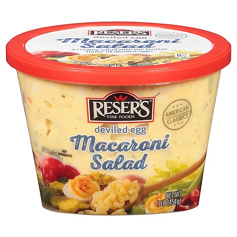 Resers Deviled Egg Macaroni Salad - 16 Oz