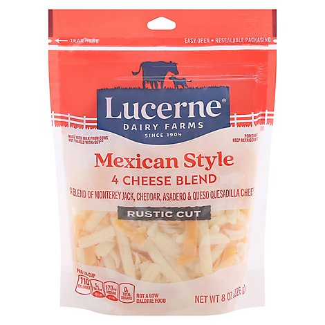 Lucerne Cheese Mexican Blend Thick Cut Shredded- 8 Oz