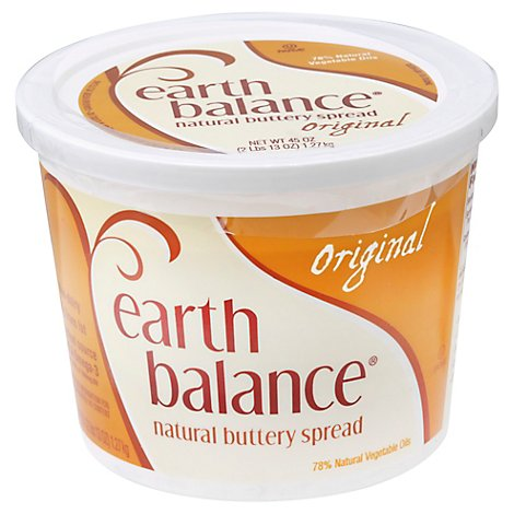 Earth Balance Buttery Spread Natural Original Tub - 45 Oz