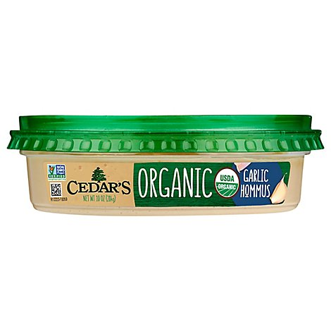 Cedars Hommus Organic Garlic Tub - 10 Oz