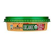 Cedars Hommus Organic Roasted Red Pepper Tub - 10 Oz