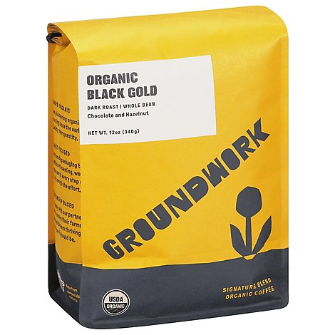 Groundwork Coffee Black Gold Blend Wb - 12 Oz