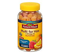 Nature Made Dietary Supplement Gummies Adult Multivitamin For Him Bottle - 150 Count